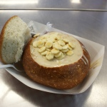 Do not leave the city without tasting clam chowder in sourdough bread bowl
