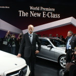 Mercedes boss Dr. Dieter Zetsche is smiling after the staging of the new E-Class