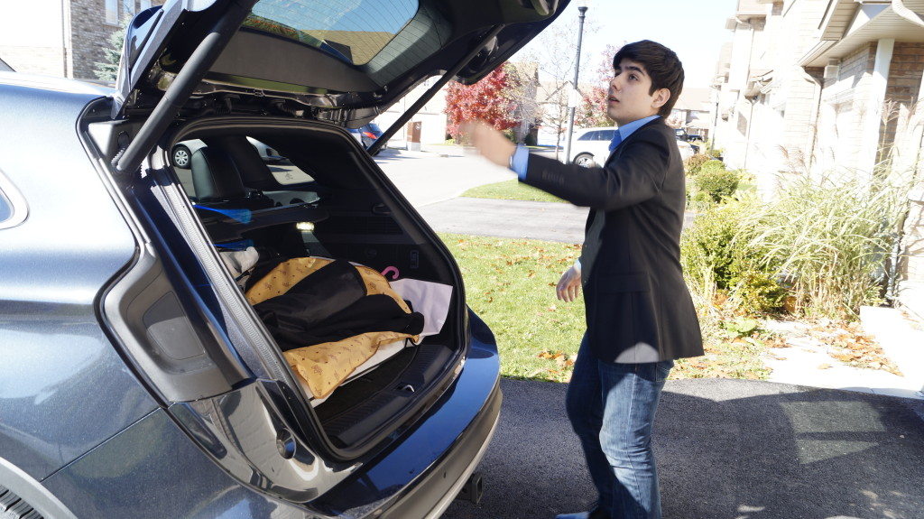 Hands-free liftgate is part of the expensive option package.