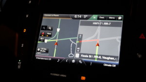 The navigation system is part of an option package costing a hefty 7,760 CAD.