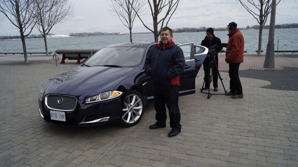 """While shooting the first episode of """"Automobile World"""" for the Turkuaz TV."""