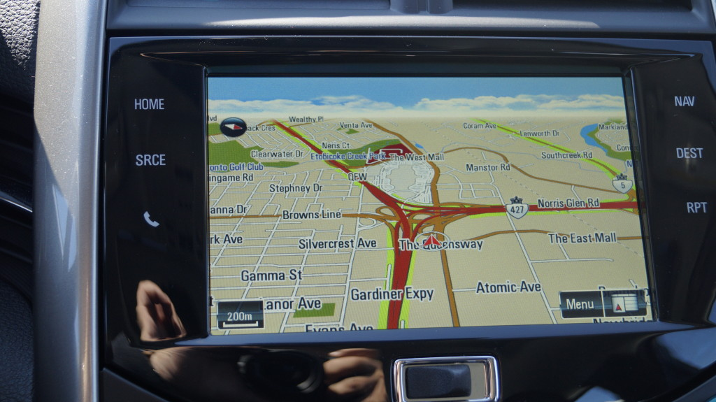 The navigation system works perfectly and easier to use than in Cadillac, GM's top brand.