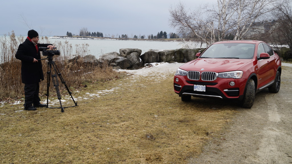 A piece of off-road doesn't harm when shooting a programme about an CUV like the X4.