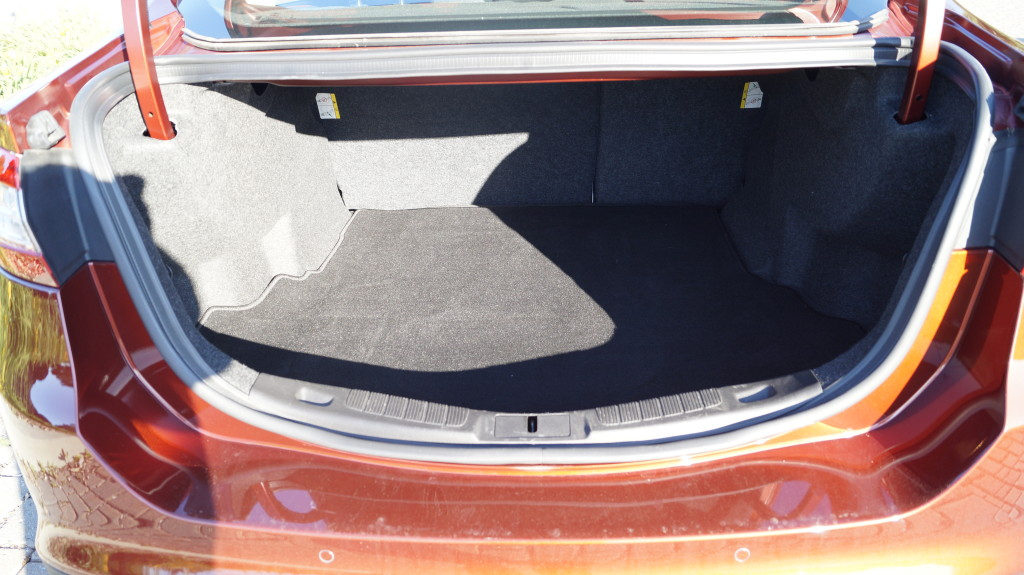 453 liters of trunk capacity is good enough for a midsize sedan.