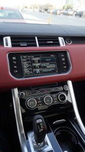 The infotainment screen falls a bit short of the generally very high standard of the vehicle. The menu could be simpler and more responsive. RR surprisingly opted for more traditional shit lever instead of a dial knob.