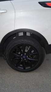 "The 19"" black wheels with low-profile tires give a sportier look but do not fit well to the vehicle"